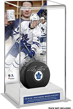 23eec1e7 Auston Matthews Toronto Maple Leafs Four-Goal NHL Debut Deluxe Tall Hockey  Puck Case - Fanatics Authentic Certified: Amazon.ca: Sports & Outdoors