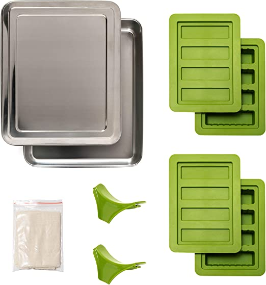 18 piece cannabutter kit-With Stainless Steel Decarboxylator tray Home CannaKit