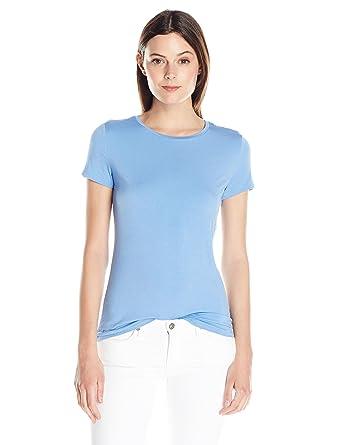 Amazon.com  Lark   Ro Women s Super Soft Short Sleeve Crewneck T ... 6f50824251b