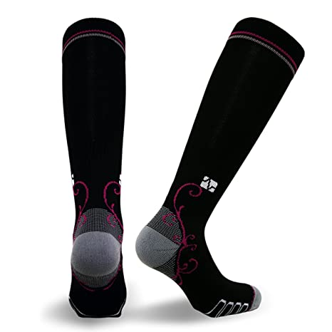 61b2989c7 Vitalsox Italian Graduated Compression Socks (1 Pair- Fitted) for Women  Best for Running