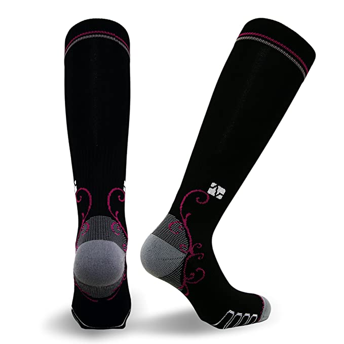 eada44e5a2 Amazon.com: Vitalsox Italian Graduated Compression Socks (1 pair- fitted)  for Women Best For Running, Travel, Yoga, Nurses, Maternity Pregnancy:  Clothing