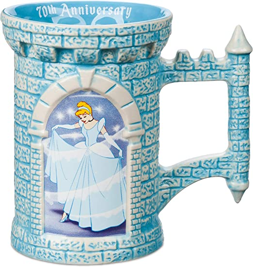 Amazon Com Disney Cinderella 70th Anniversary Mug Coffee Cups Mugs