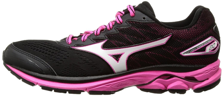 Mizuno Women's Wave B(M) Rider 20 Running Shoe B01MSWBI2Y 10 B(M) Wave US|Black/White/Pink Glo a6b846