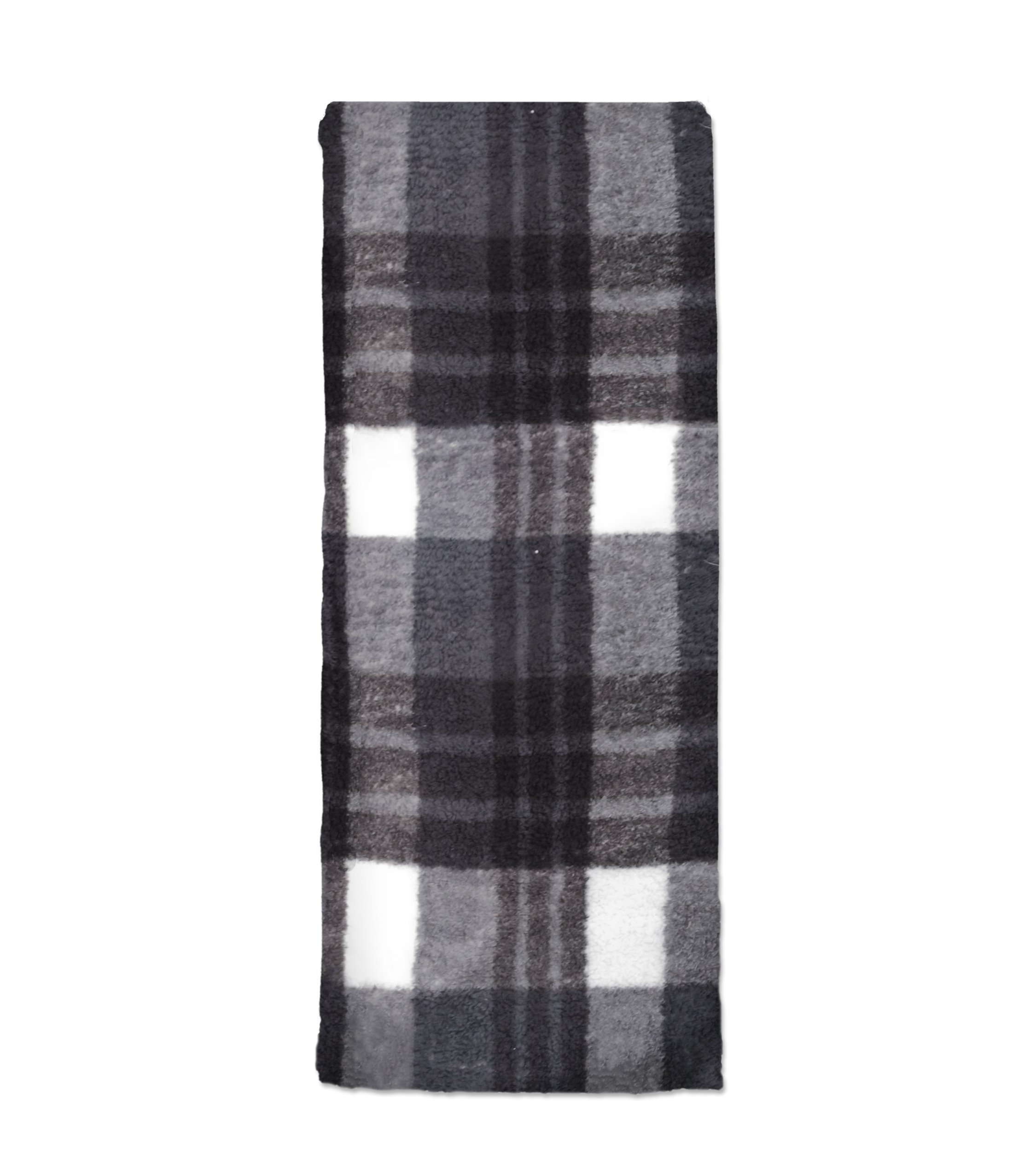 Hotel Berber Plaid Throw-Gry, 50x60, Grey