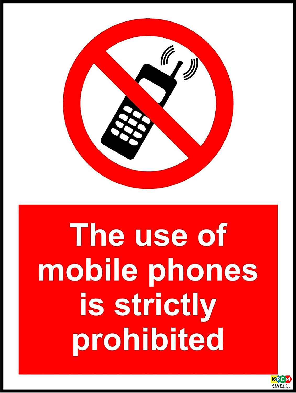 El uso de tel/éfonos m/óviles est/á estrictamente prohibido se/ñal/ /1,2/mm pl/ástico r/ígido 300/mm x 200/mm