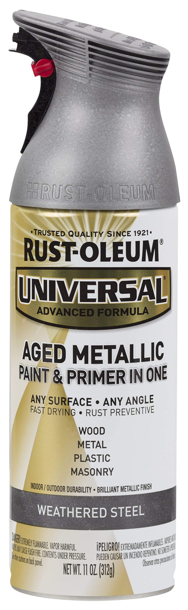 Rust-Oleum 285073 Universal All Surface Spray Paint, 11 oz, Aged Metallic Weathered Steel