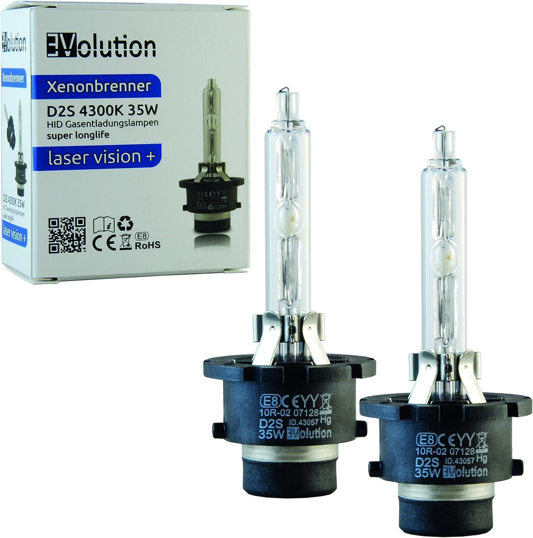 Evolution Laser Vision Xenon Brenner D2s 4300k 35w 2er Set Auto