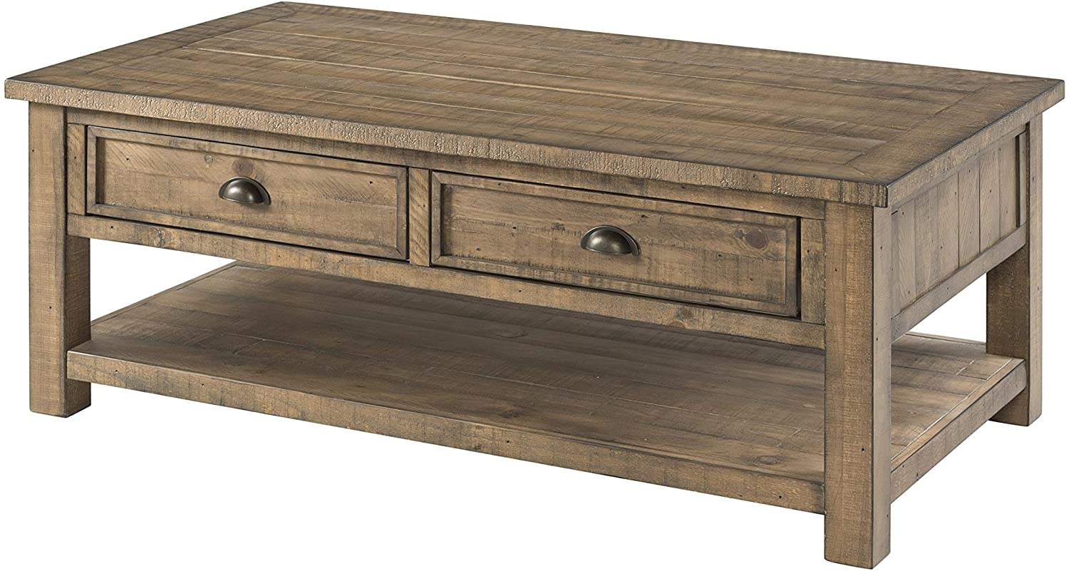 Martin Svensson Home Monterey Solid Wood Coffee Table, Reclaimed Natural