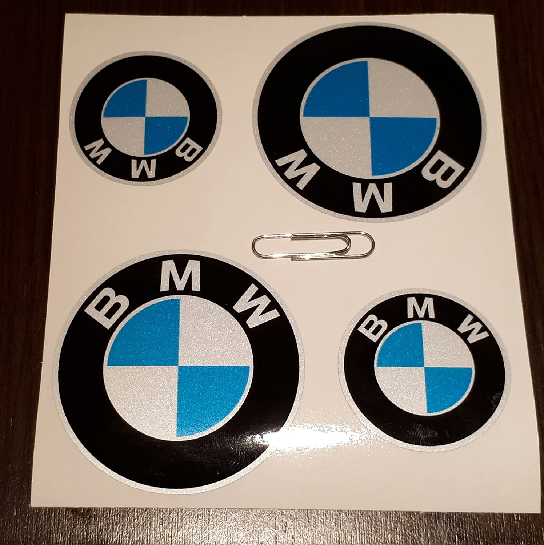 PEGATINA STICKER ADESIVO AUFKLEBER DECALS AUTOCOLLANTS BMW REFLECTANTE MOTO COCHE VINILO ALTA CALIDAD 4 unidades REF1: Amazon.es: Coche y moto