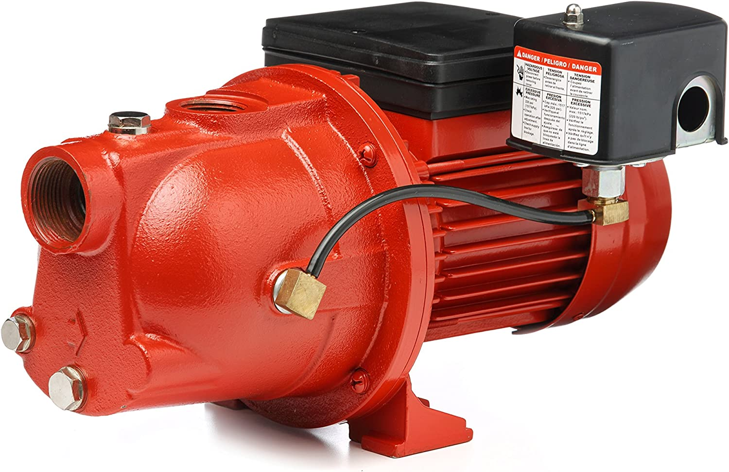 Red Lion RL-SWJ50 97080502 1/2-HP 13-GPM Cast Iron Shallow Well Jet Pump, Red