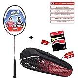 Li-Ning Turbo X 90-II Carbon-Graphite Badminton Racquet with Free String & Bag