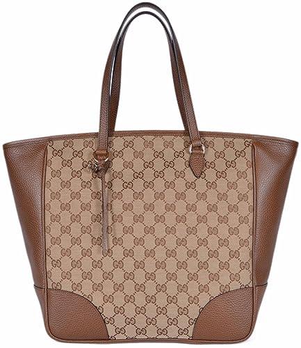 Amazon.com  Gucci Women s Large Canvas Leather Bree GG Guccissima Handbag  Tote (Beige Brown 449242)  Shoes 9973cd3f4b7a9