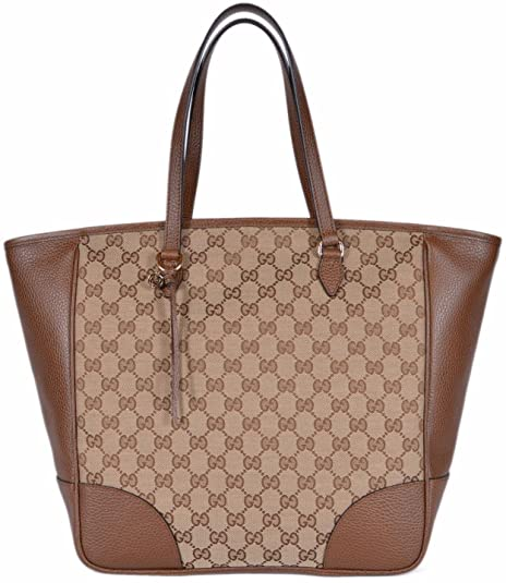 3a9e223df3d Gucci Women s Large Canvas Leather Bree GG Guccissima Handbag Tote (Beige Brown  449242)  Amazon.ca  Shoes   Handbags