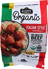 Cooked Perfect, Beef Meatball Italian Gluten-Free Grass Fed Organic, 12 Ounce , 12 Ounce
