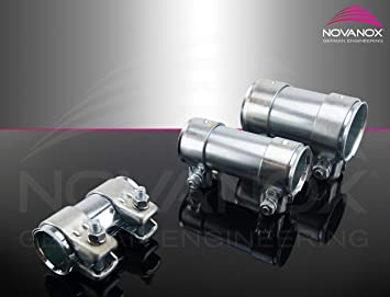 Rohrverbinder Doppelschelle Auspuff Abgasanlage Ø 50 mm x Länge 80 mm