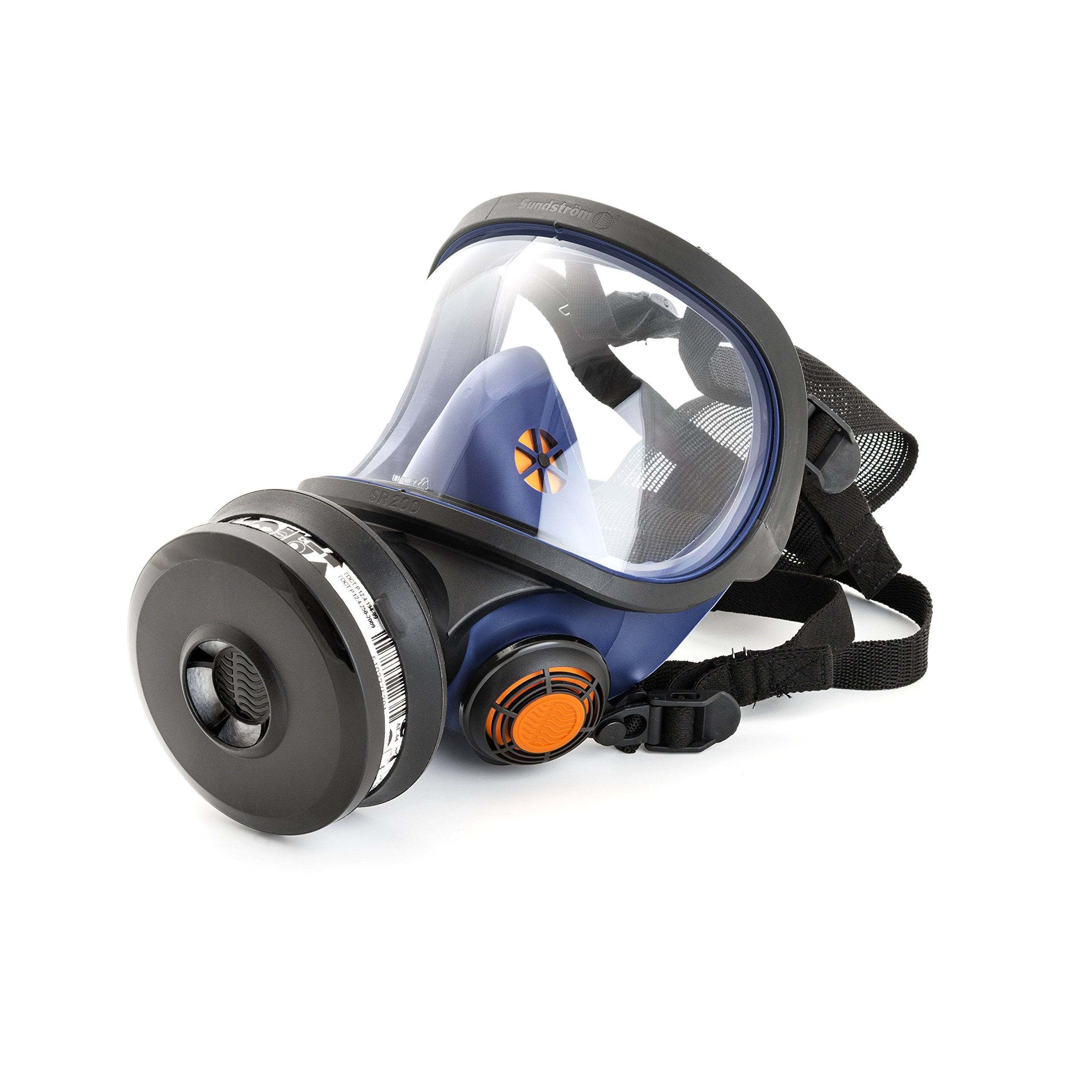 Sundstrom H01-1221 SR 200 Full Face Mask Respirator with PC Visor, Silicone