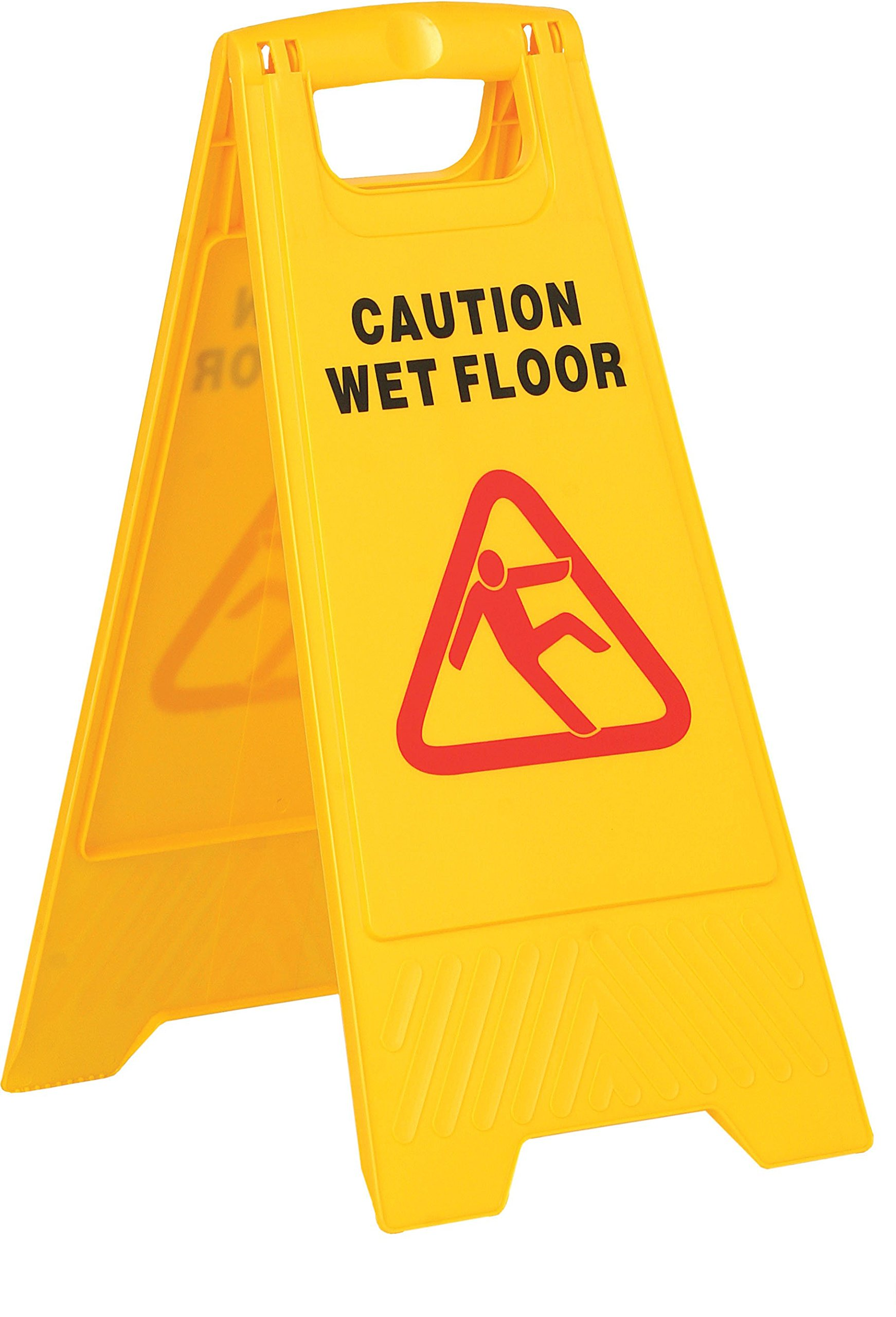 YEX 2-Sided Fold-Out Floor Safety Sign Wet Floor Floor Warning Sign Plastic Folding Sign, Yellow