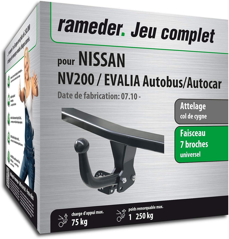 EVALIA Autobus//Autocar Rameder Attelage d/émontable avec Outil pour Nissan NV200 Faisceau 7 Broches 145767-08660-1-FR