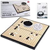 AMEROUS 11 Inches Magnetic Go Game Set (19 x 19), Travel Foldable Board Game Set with Magnetic Plastic Stones & Go Game…