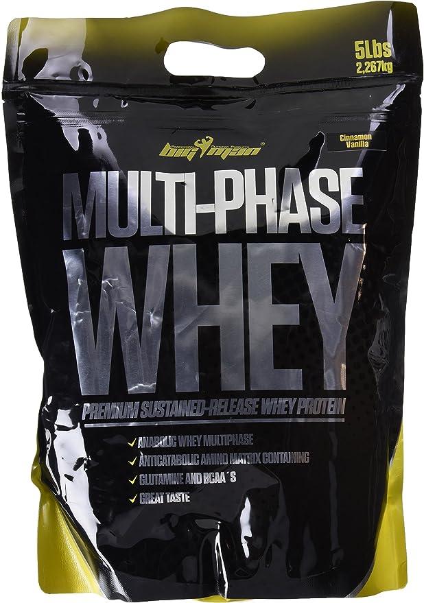 Big Man Nutrition Multi-Phase Whey Complejo de Proteínas, Cinnamon Vanilla - 2268 gr