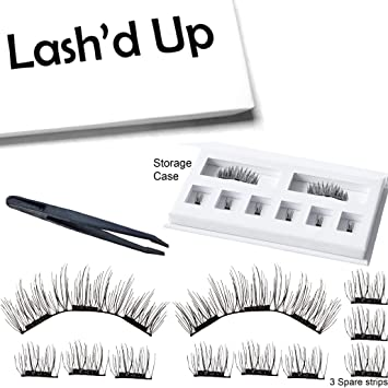 8c43741abc7 Lash'd Up Magnetic Eyelashes Full Eyes Natural Look Grade A+ Silk [No Glue