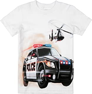 product image for Shirts That Go Little Boys' Police Car and Helicopter T-Shirt