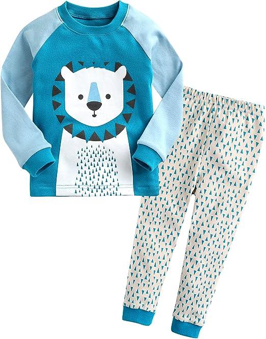 [Freeshipping] Vaenait baby 1 – 7 años niños manga larga pijama pijamas Set Leo
