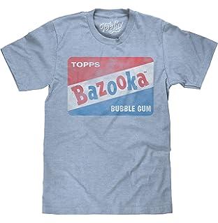 Tee Luv Bazooka Bubble Gum T-Shirt - Vintage Topps Candy Logo Shirt Light  Blue 573a7e013