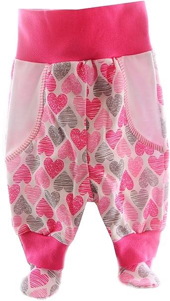 e1a4fb7707 La Bortini Hose Schluphose Baby Hose 56 62 68 74 Babyhose Weiß Pink  Schafhose mit Fuß