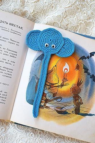 Häkeln Lesezeichen Elefanten Gehäkelt Kinder Tier Lesezeichen