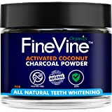 Charcoal Teeth Whitening Powder - Made in USA - REMOVES TOOTH STAINS and BAD BREATH - Best Natural Tooth Whitener Product- Mint flavor.