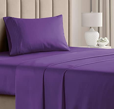 Amazon Com Twin Xl Sheet Set 3 Piece College Dorm Room Bed Sheets Hotel Luxury Bed Sheets Extra Soft Sheets Deep Pockets Easy Fit Breathable