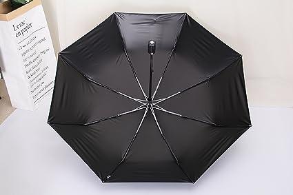Mio Sara paraguas una mano con bordes reforzados 60 mph toldo resistente al viento y antideslizante