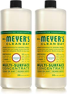 product image for Mrs. Meyer's Clean Day Multi-Surface Cleaner Concentrate, Cruelty Free Formula, Honeysuckle Scent, 32 oz- Pack of 2
