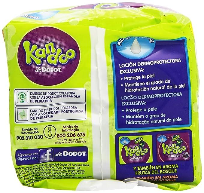 Dodot Kandoo Toallitas Húmedas - Paquete de 2 x 60 Unidades - Total: 120 Unidades: Amazon.es: Amazon Pantry