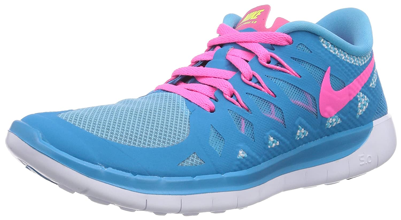 Nike Free 5.0 (GS) - Zapatillas para Niñas 38 EU Blue Lagoon/Pink Powder/White/Volt