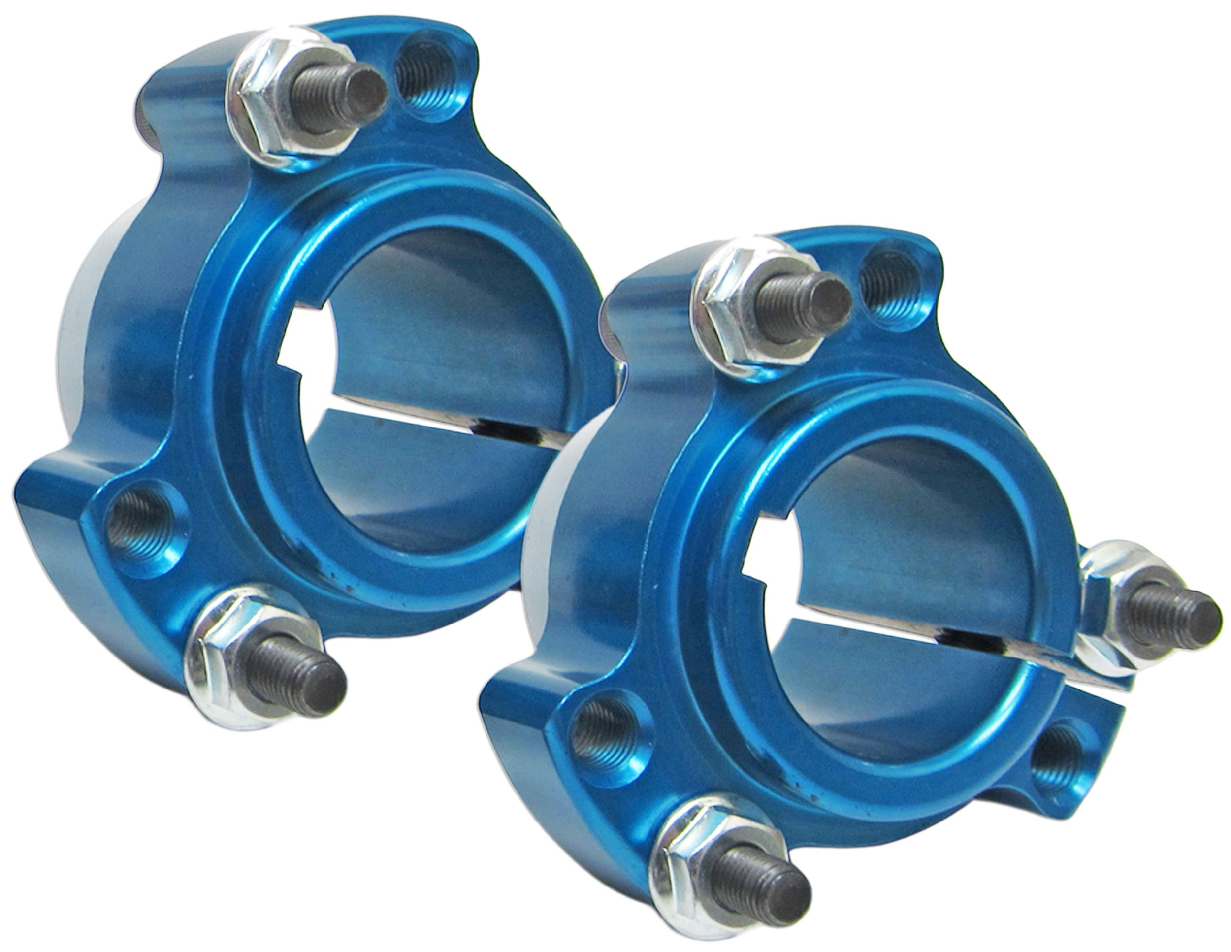 Set of 2 - Blue 1'' Rear Lightened Aluminum Racing Wheel Hubs Go Karts Drift Trikes