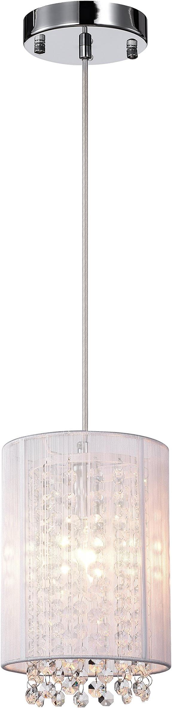 Lalula Crystal Pendant Lighting 1-light Modern Ceiling Lights kitchen island Chandelier  sc 1 st  Amazon.com & Pendant Light Fixtures   Amazon.com   Lighting u0026 Ceiling Fans ... azcodes.com