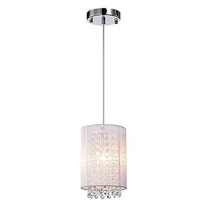 LaLuLa Crystal Pendant Lighting 1-Light Mini Raindrop Lights Kitchen ...