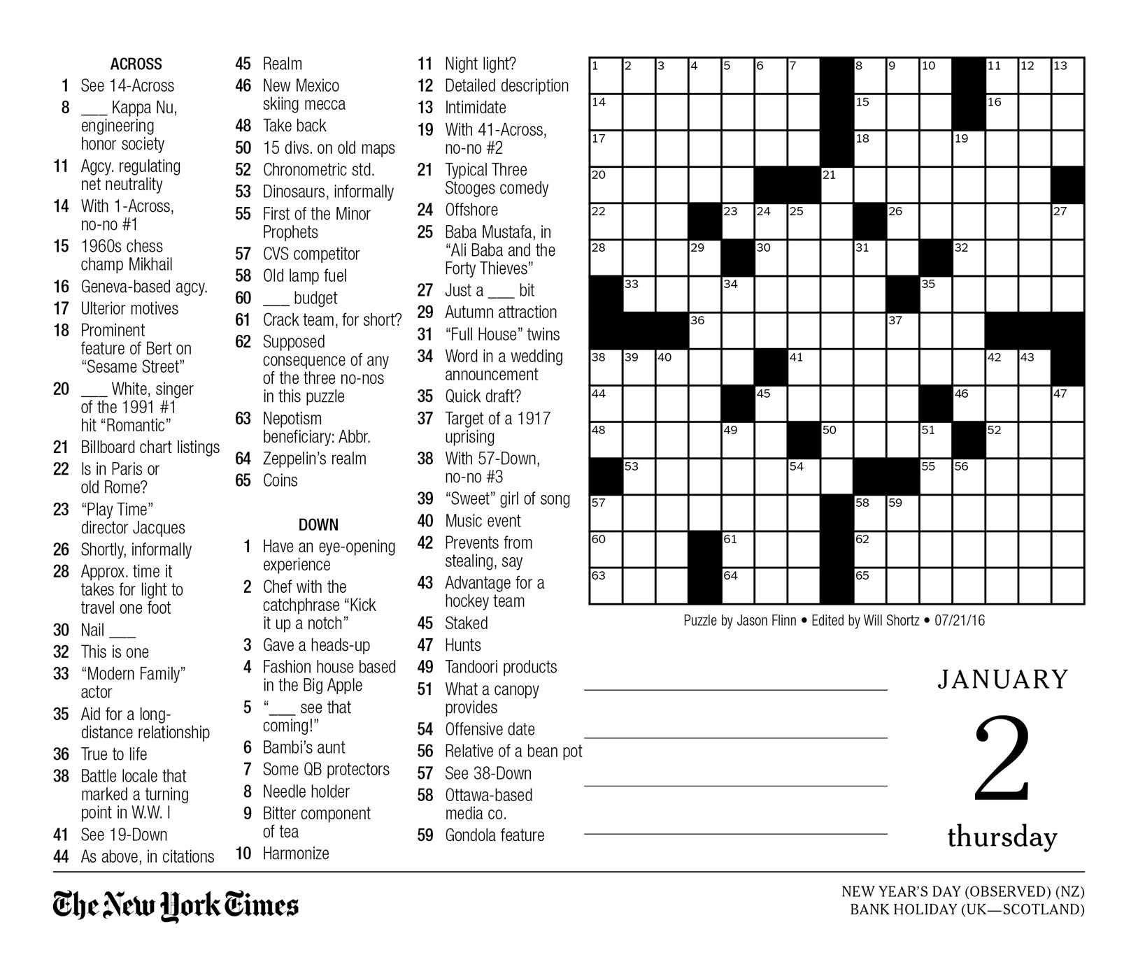 It's just a picture of Printable Sunday Crossword Puzzles throughout medium difficulty