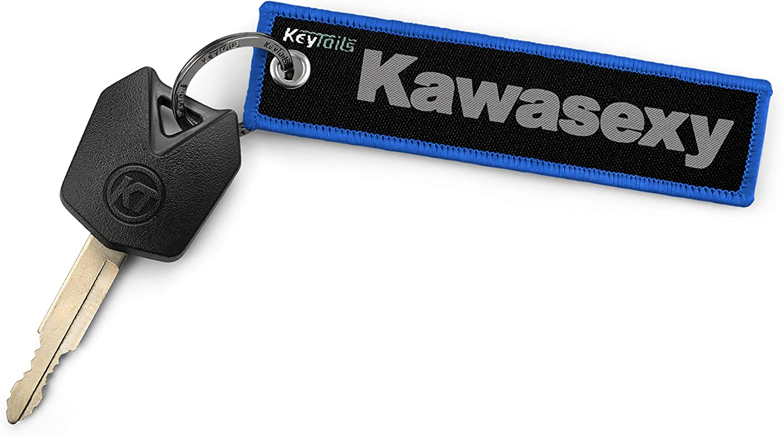 Motorcycle ATV UTV Kawasexy Premium Quality Key Tag for Kawasaki KEYTAILS Keychains
