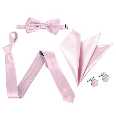 The Tie Company - Conjunto - para hombre Rosa rosa pastel Talla ...