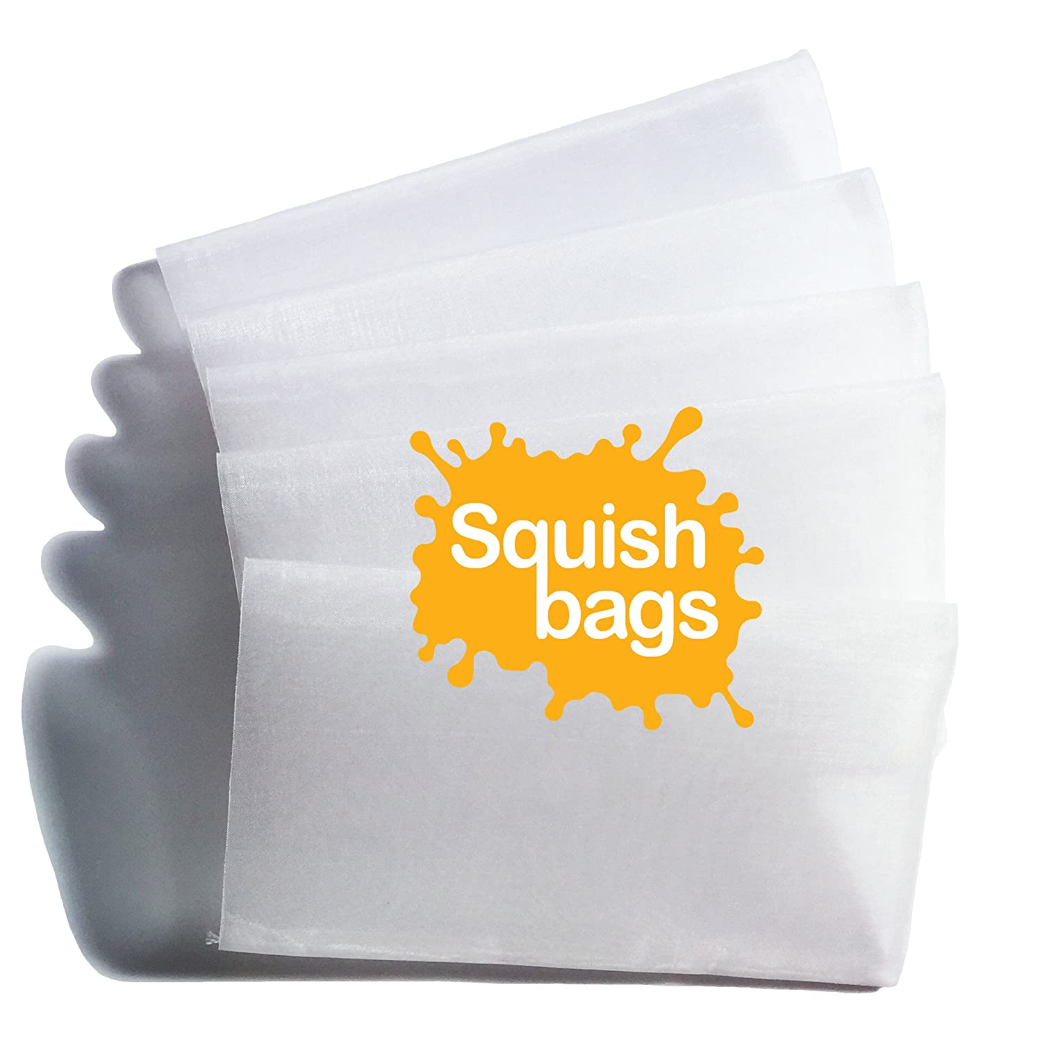 Squish Bags 90 micron Rosin Press Screen Bags 2.5 x 4.5 - 100 pack