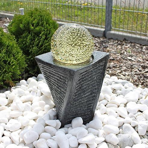 Granit Springbrunnen SB17 mit drehender Kugel LED Beleuchtung ...
