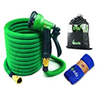 Gada Flexible Garden Hose Set 50 FT Heavy Duty Double Latex