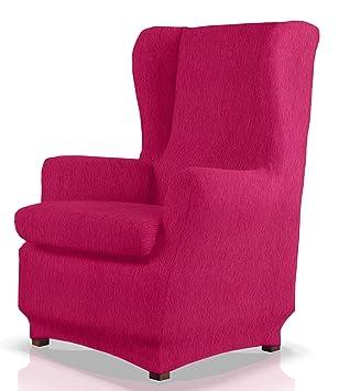 JM Textil Funda de sillón orejero elástica Haber Tamaño 1 Plaza (Estándar), Color 02