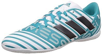 b0002340861 Adidas Men s Nemeziz Messi 17.4 in Ftwwht Legink Eneblu Football Boots - 8  UK