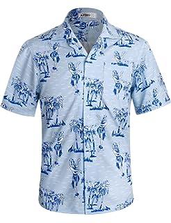 ac70c0d5a619 APTRO Men s Hawaiian Shirt Short Sleeve Summer Shirts