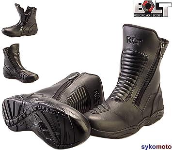 Schwarz Sportsport Laufen f/ür M/änner und Frauen mittlere L/änge wasserdicht atmungsaktiv Bolt R34-HYPER Motorrad-Stiefel