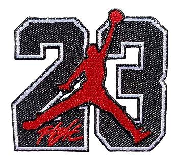 Amazon.com: Parche termoadhesivo 23 Jordan Symbol Baloncesto ...
